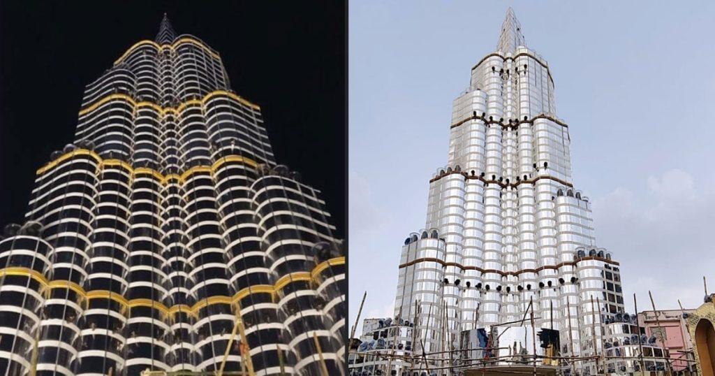Puja Pandal in Kolkata like Burj Khalifa